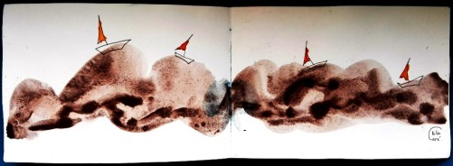Rita Care - Navegar navegar na grafite aguarelavel