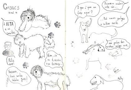 CROACS, L1B, Manuela Rolão, Cães, Seixal, Adopção Responsável, Adoção Responsável, Urban Sketching, Marcadores, Desenhar,